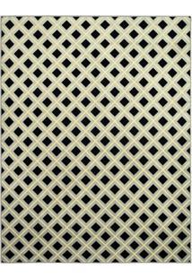 Tapete Pixel Retangular Veludo 200X290 Bege E Marrom