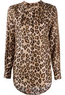 Alberto Biani Leopard Print Blouse - Amarelo