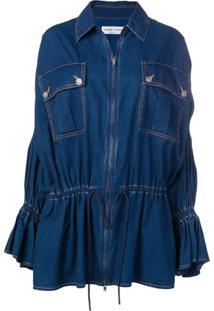 Sonia Rykiel Jaqueta Jeans Com Zíper - Azul