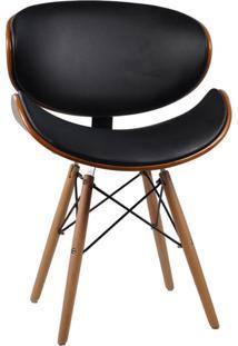 Cadeira De Jantar Estofada Paris Preta
