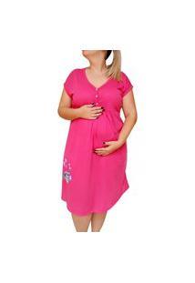 Camisola Plus Size Amamentação Até O Tamanho 58 Coruja - Linda Gestante