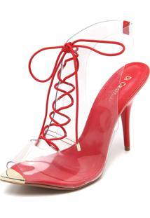 a30e49064f Sandália Cristal Vermelha feminina