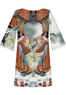 Vestido Manga 3/4 Estampado Kyoto - Lez A Lez