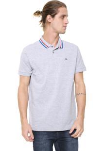 Camisa Polo Triton Reta Listras Cinza