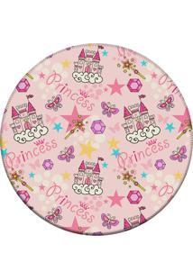 Tapete Love Decor Redondo Wevans Princess Rosa 94Cm