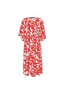 Vestido Túnica - Vermelho