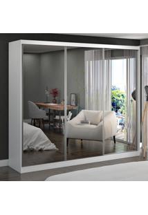 Guarda-Roupa Casal 3 Portas Com 3 Espelhos 100% Mdf 774E3 Branco - Foscarini