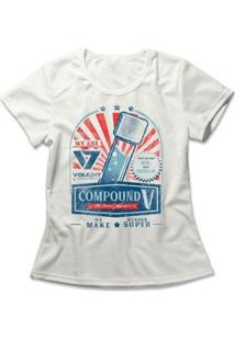 Camiseta The Boys Composto V Feminina - Feminino-Off White