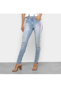 Calça Jeans Lança Perfume Nix Skinny Feminina - Feminino-Azul