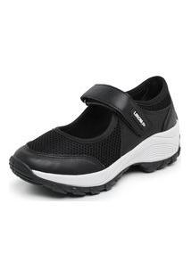 Sapatos Femininos Sapatilhas Lirom Confortável Preto