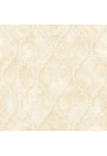 Papel De Parede Arabescos- Bege & Off White- 1000X52Shark Metais