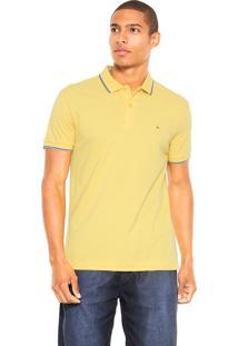 Camisa Polo Aramis Bordada Amarela