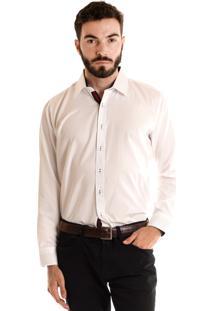 Camisa Konciny Social Manga Longa Branca