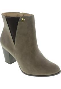 Bota Ankle Boots Via Marte Feminina - Feminino-Marrom Claro