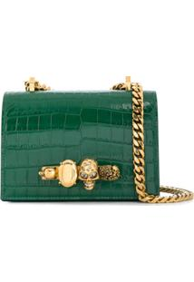 Alexander Mcqueen Knuckle Duster Shoulder Bag - Verde