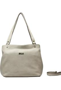 Bolsa De Couro Recuo Fashion Bag Tote Cacau