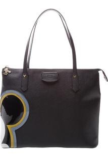 Bolsa Mickeyâ® Com Recortes- Preta & Azul- 28X34X14Cmarezzo & Co.