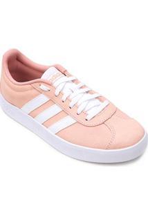 Tênis Adidas Vl Court Feminino - Feminino-Pink+Branco