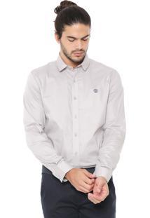 Camisa Timberland Reta Essencial Color Micro Cinza
