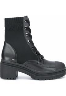 Michael Michael Kors Ankle Boot Com Recorte De Tricô - 012