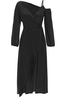 Vestido Manga Alça - Preto