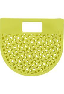 Bolsa De Mão Melissa Citrus Amarela