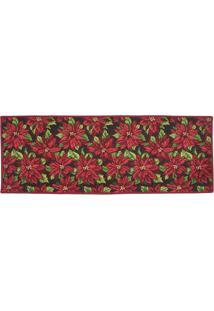 Tapete Floral- Vermelho & Verde- 137X48Cm- Mabrumabruk