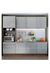 Cozinha Completa Madesa Lux Com Armário E Balcáo 7 Portas 3 Gavetas - Rustic/Cinza Cinza