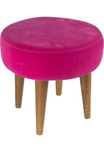 Puff Banqueta Baixa Suede Pés Palito 657 Lymdecor Pink