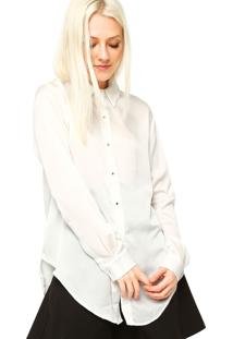 Camisa Manga Longa Ellus Botões Off White