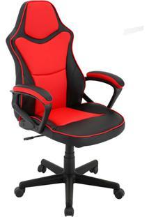 Cadeira Office Gamer Rush-Rivatti - Vermelho / Preto