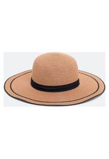 Chapéu Com Gorgurão Preto | Bossa Nossa | Bege | U