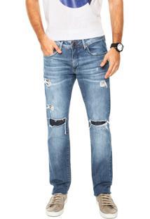 Calça Jeans Calvin Klein Jeans Skinny Puídos Azul
