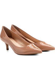 Scarpin Shoestock Salto Médio Verniz - Feminino