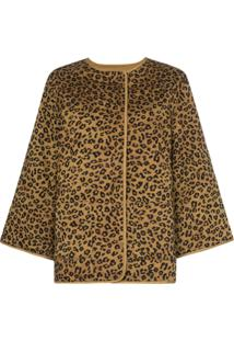 Mara Hoffman Jaqueta Haven Animal Print - Marrom
