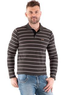 Camisa Polo Konciny Listrada Marrom