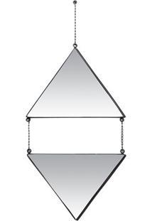 Espelho Triângulos- Espelhado- 58X19X1Cm- Decor Decor Glass