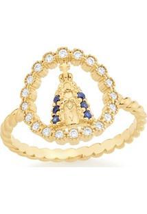 Anel Nossa Senhora Aparecida Rommanel - Feminino-Dourado