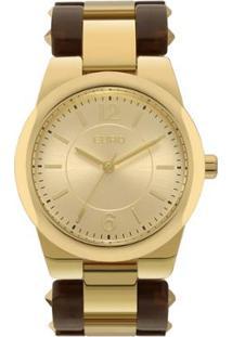 f07e837ef4f Relógio Digital Dourado Marrom feminino