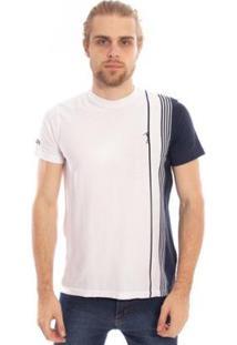 Camiseta Listrada Find Aleatory Masculina - Masculino-Branco