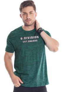 Camiseta Estampada Verde Bgo
