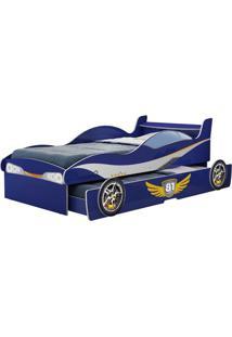 Cama Bibox Carro Enzo Azul Gelius