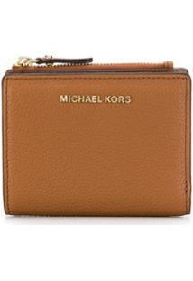 Michael Michael Kors Carteira Compacta Com Logo - Marrom