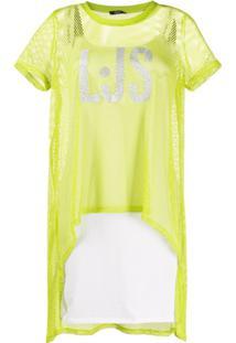 Liu Jo Slip Dress Com Sobreposição - Verde