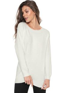Suéter Facinelli By Mooncity Tricot Textura Off-White