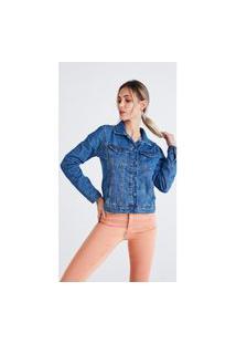 Jaqueta Jeans Zait Lis Azul Marinho