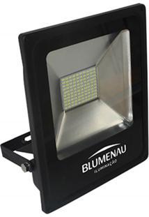 Refletor Led 50W Bivolt 6000K Slim Preto Luz Branca