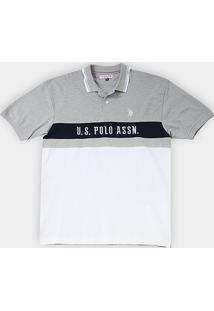 Camisa Polo U.S. Assn Piquet Frisos Plus Size Masculina - Masculino