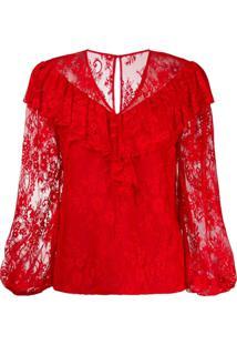 Three Floor Blusa Com Padronagem - Vermelho