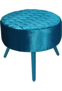 Puff Lymdecor Decorativo Angel Tresse 50X25X50 Azul
